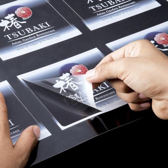 لیبل شیشه ای -پی وی سی-متالایز